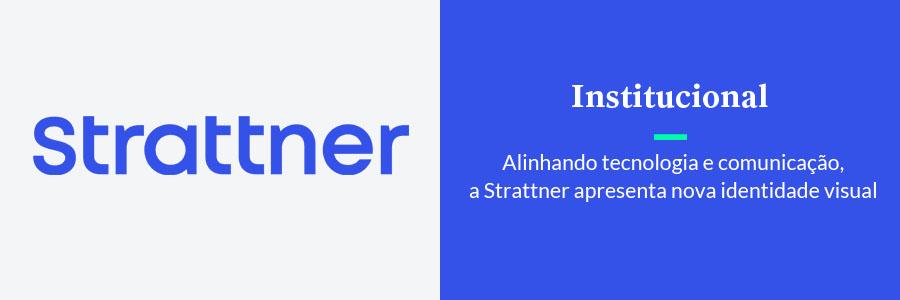 arte retangular com novo logo da strattner